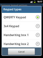 Samsung Galaxy Pocket QWERTY Keypad