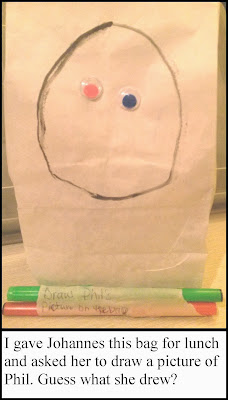 Draw a face on a lunch bag, school lunch, lunch bag, silly bag