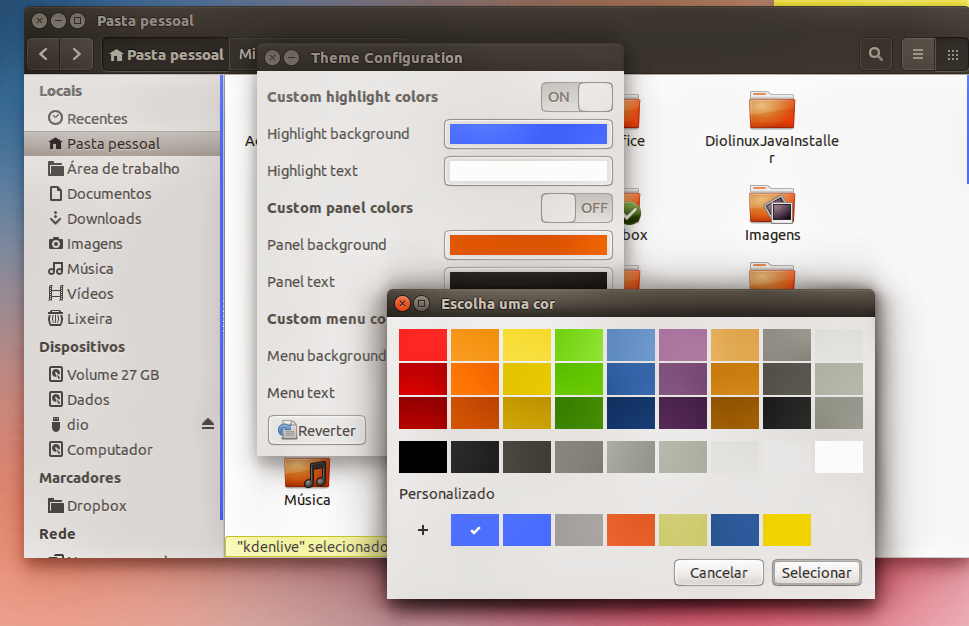 Theme Configuration Ubuntu