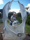 Riding a dolphin...