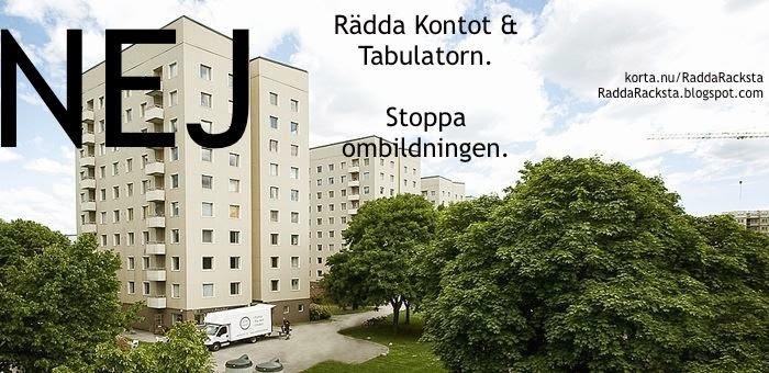 Rädda Kontot och Tabulatorn - Stoppa ombildningarna i Råcksta