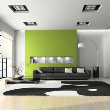 sala color verde relajante