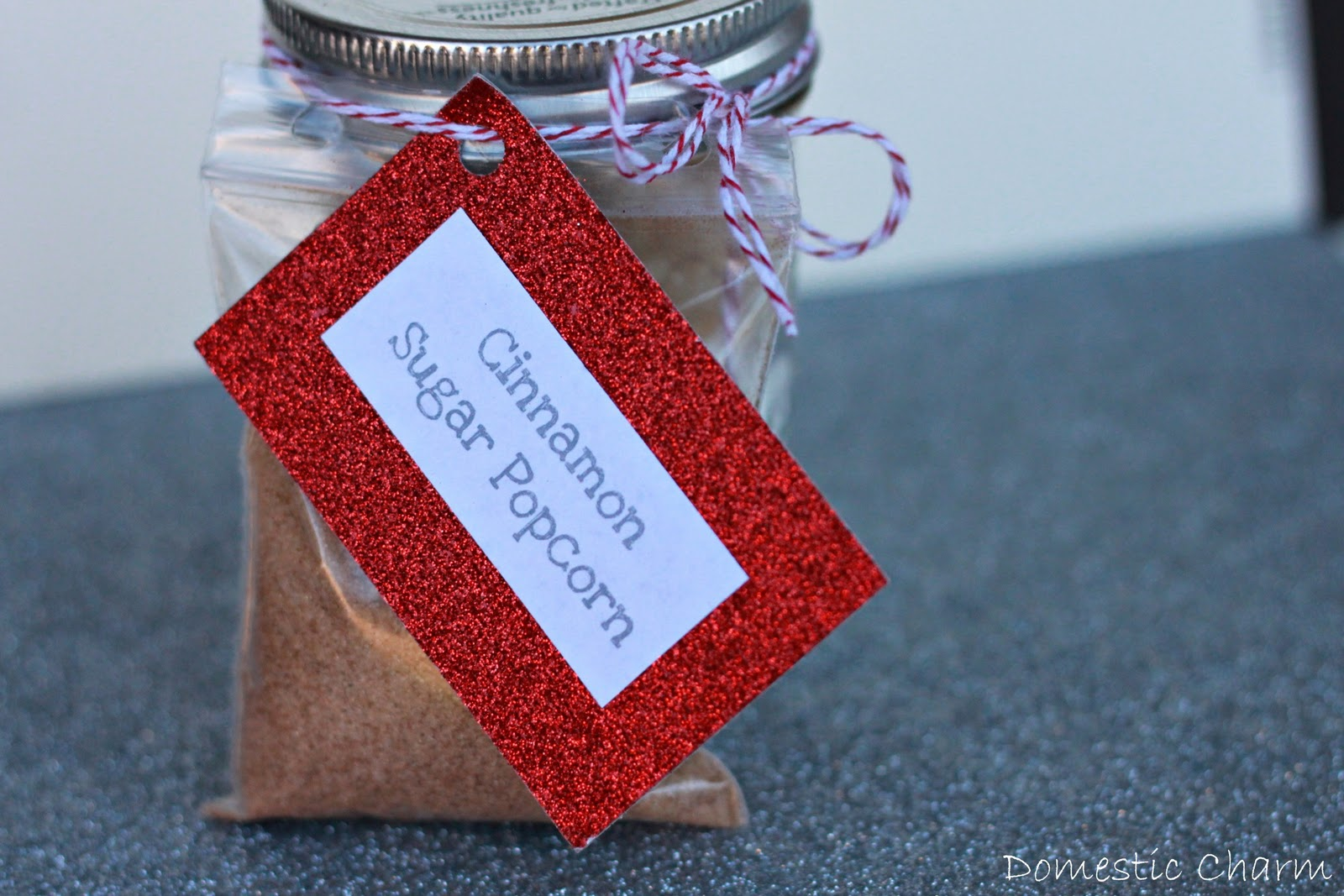 cinnamon sugar popcorn mason jar gifts