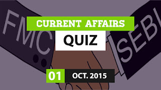 Current Affairs Quiz 1 October 2015