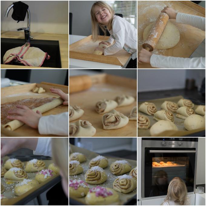 korvapuusti, voisilmäpulla, leivonta, leivinlauta