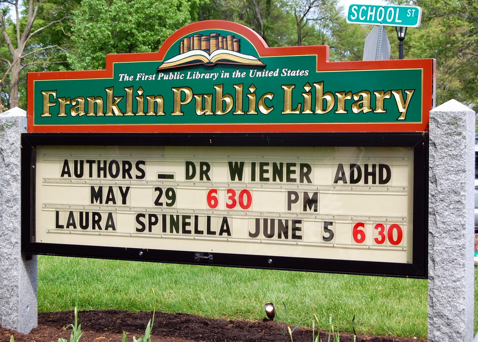 local author Laura Spinella will speak June 5th