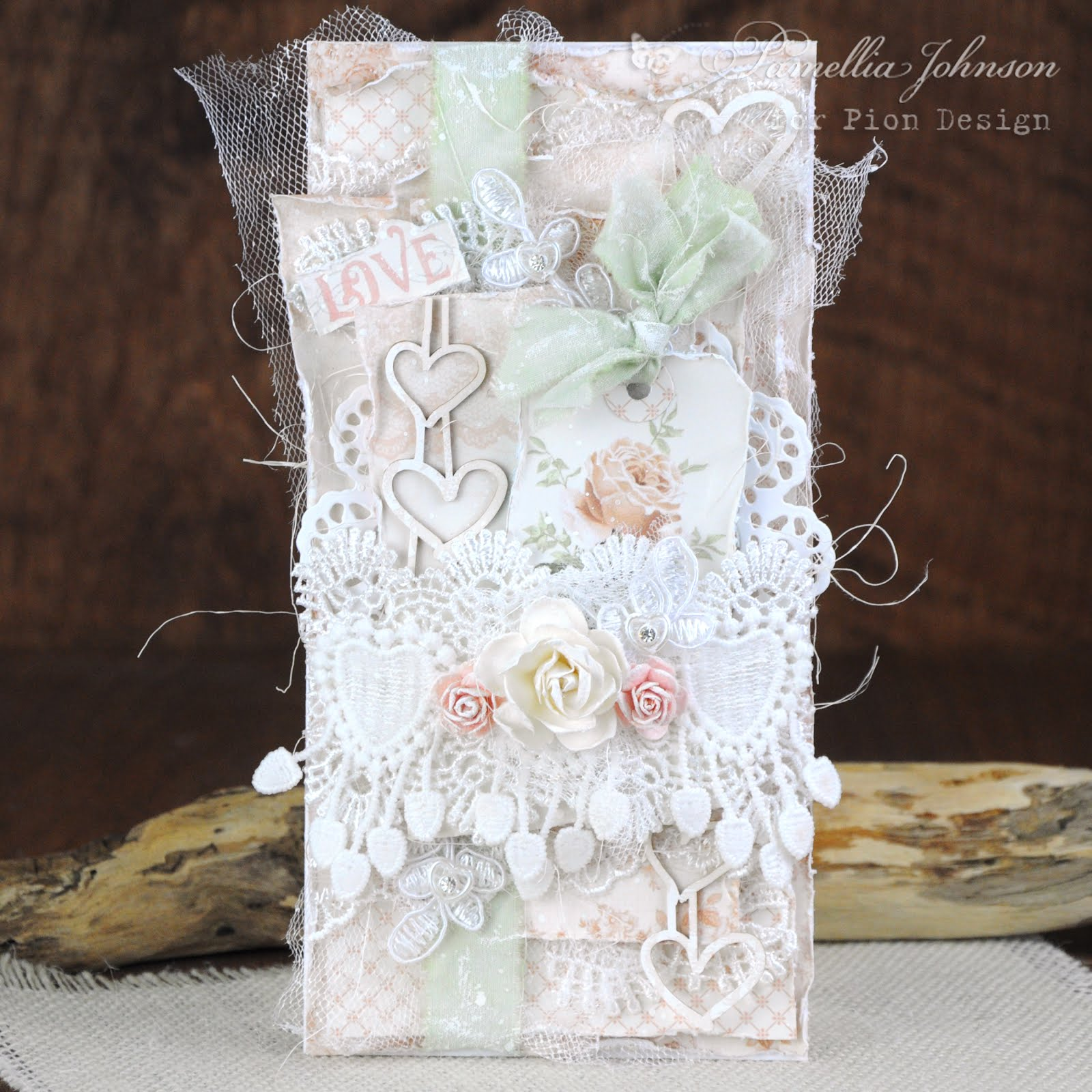 Pion Design-Scrapiniec - Peach Wedding
