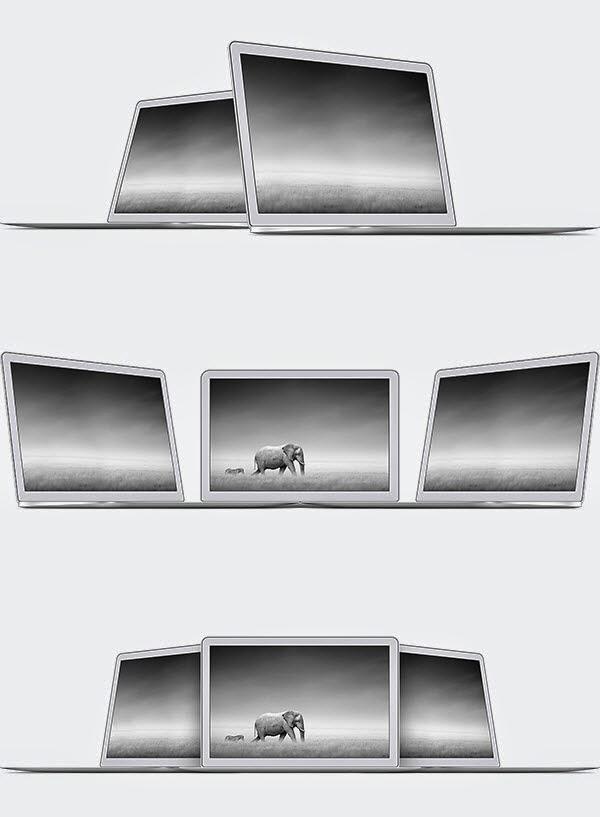 Free MacBook Air PSD Templates