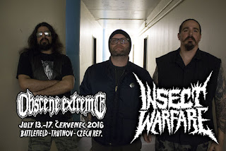Insect Warfare Reunite to play Obscene Extreme 2016 July 13-17