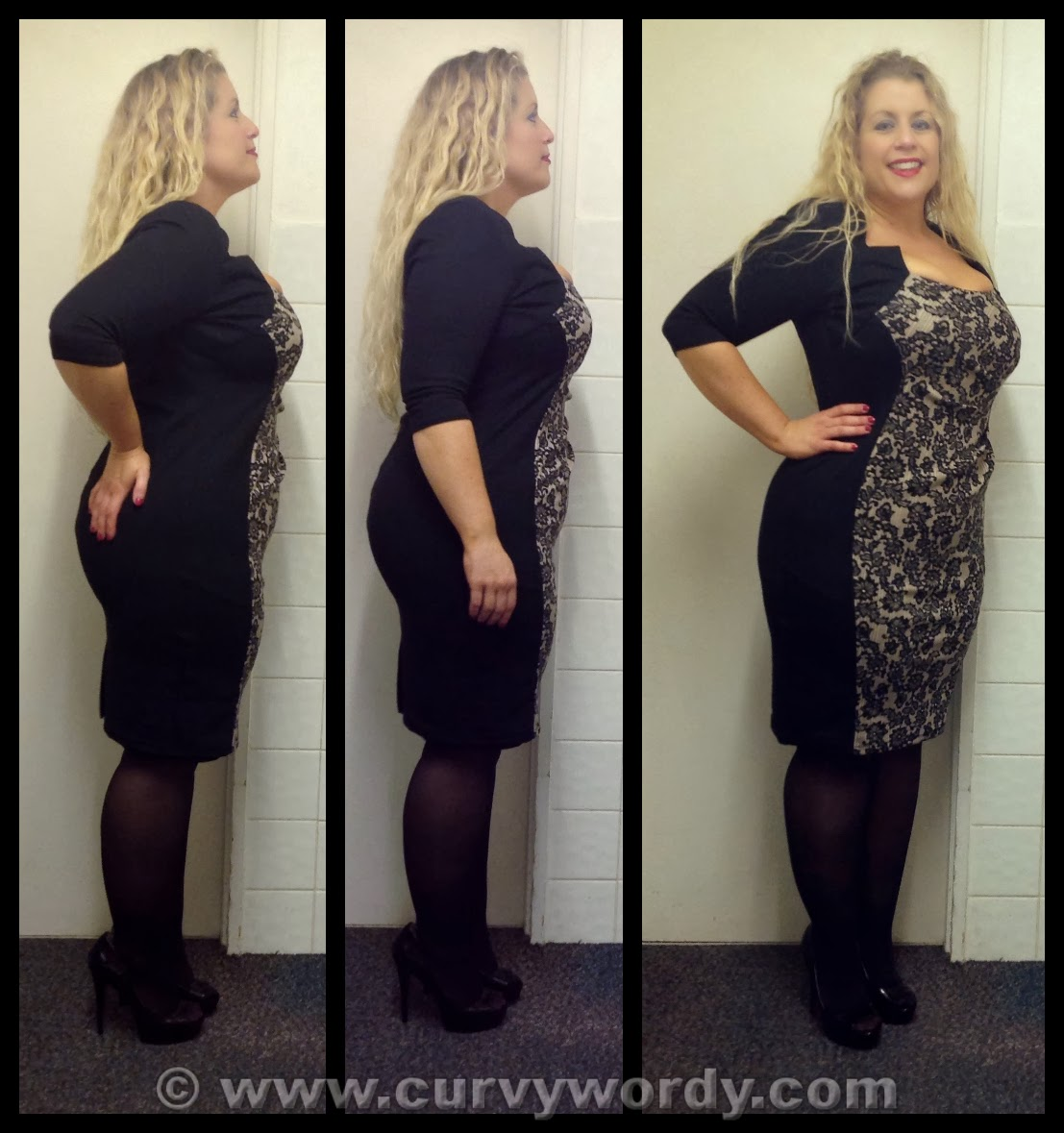 Plus Size Hourglass Illusion Dress Dressed For Less
