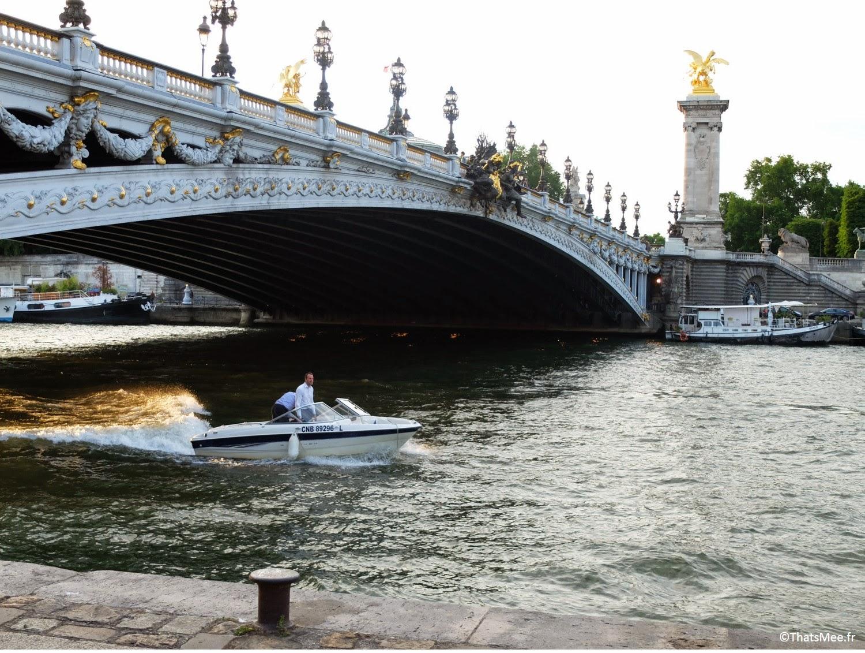terrasse sur seine Les Berges Port Pont Alexandre III Paris (c) Thatsmee.fr