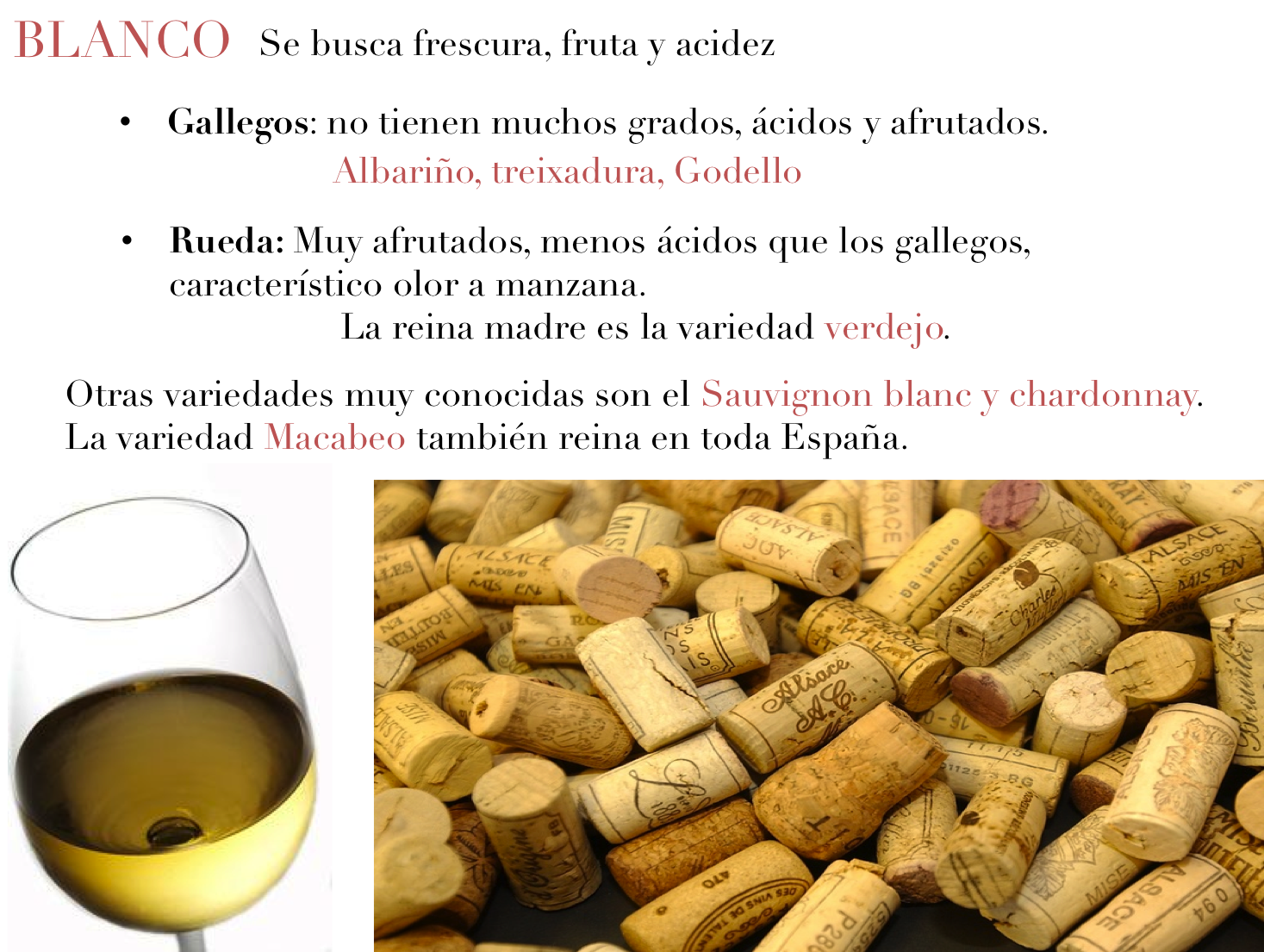 variedades vino blanco