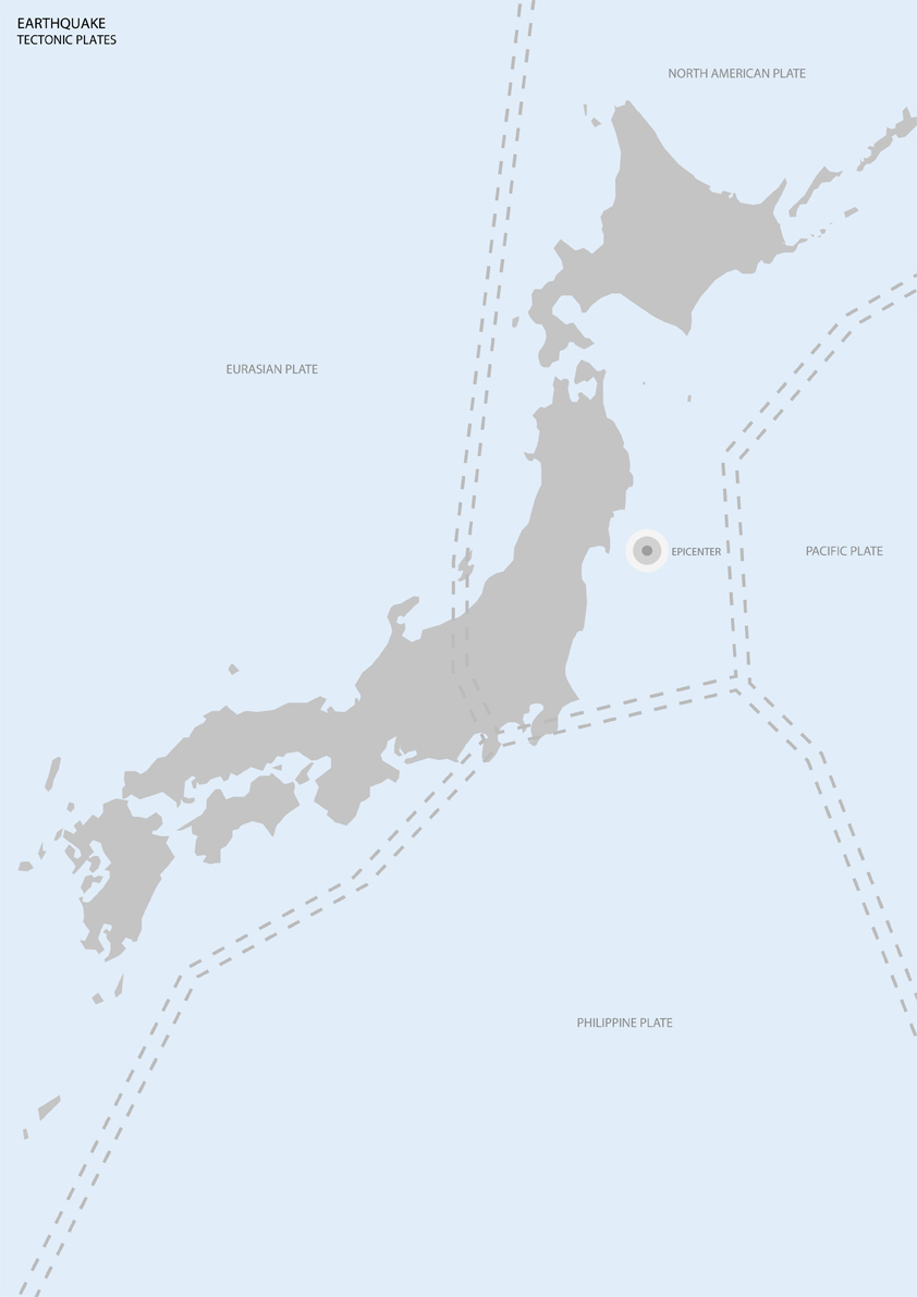 during a five day period between march 11 and 15 and after the 9 0 magnitude tohoku earthquake a number of aftershocks were recorded by the us geological
