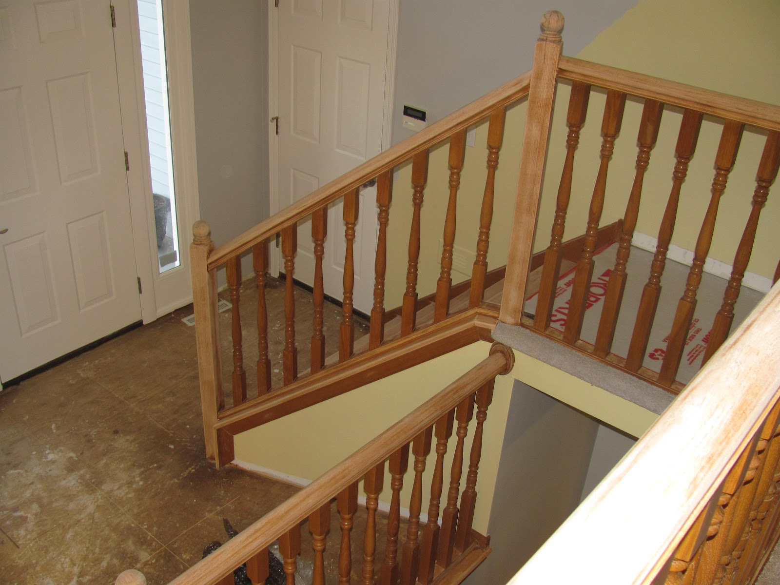 I Wanted To Match The Railing And Stair Stain To The Color Of The Laminate  As Closely As Possible. For The Railing, I Decided To Use Minwax Polyshades  In ...