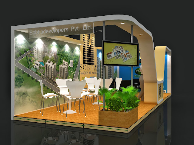 Real Estate Exhibition Stall : Shoba stall design property expo bangalore amit chand