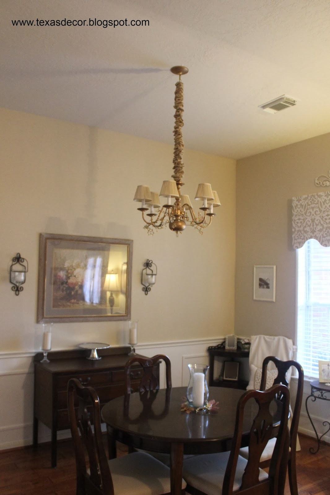 Texas Decor Adding A Medallion To The Dining Room Chandelier