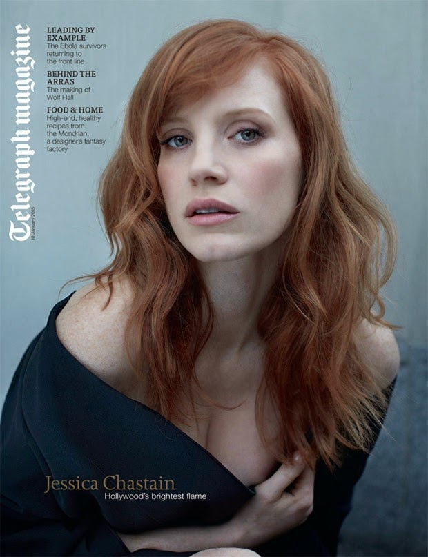 Jessica Chastain by Lorenzo Agius for Telegraph Magazine