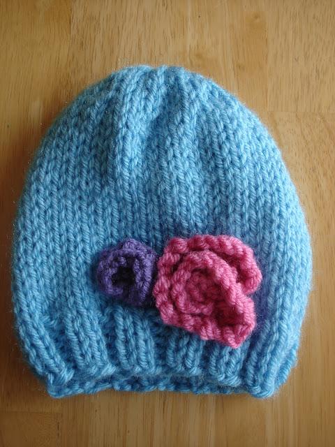 Free Knitting Patterns Kids Hats : Fiber Flux: Free Knitting Pattern! Baby In Bloom Hats