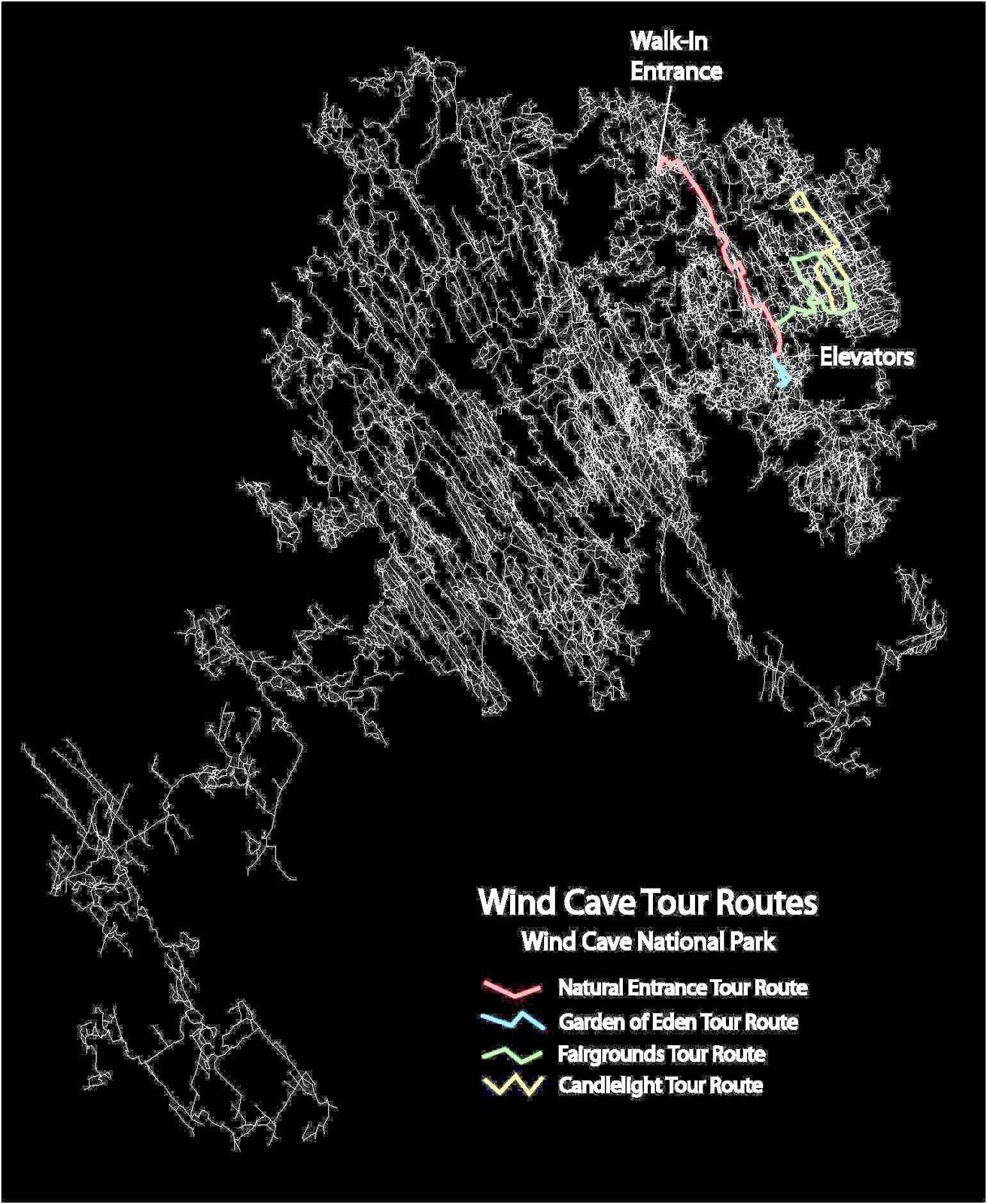 wind cave tour routes