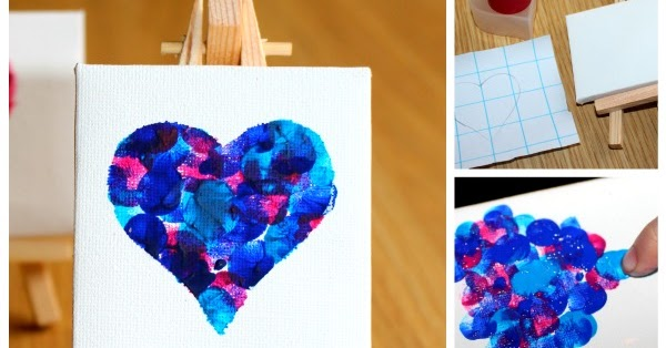 Messy Little Monster Fingerprint Heart Keepsake