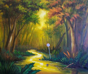Pintor de Paisajes selváticos. Sebastián Buchelli paisajes al oleo selvas naturales invadidas por el hombre