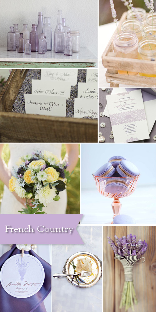 french country style wedding inspiration