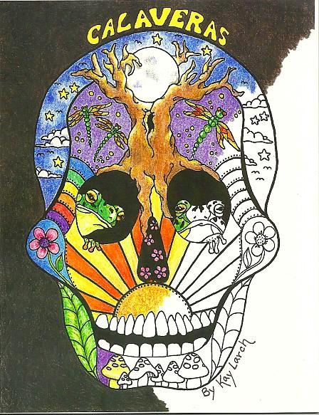 dia de los muertos coloring books - Grateful Dead Coloring Book
