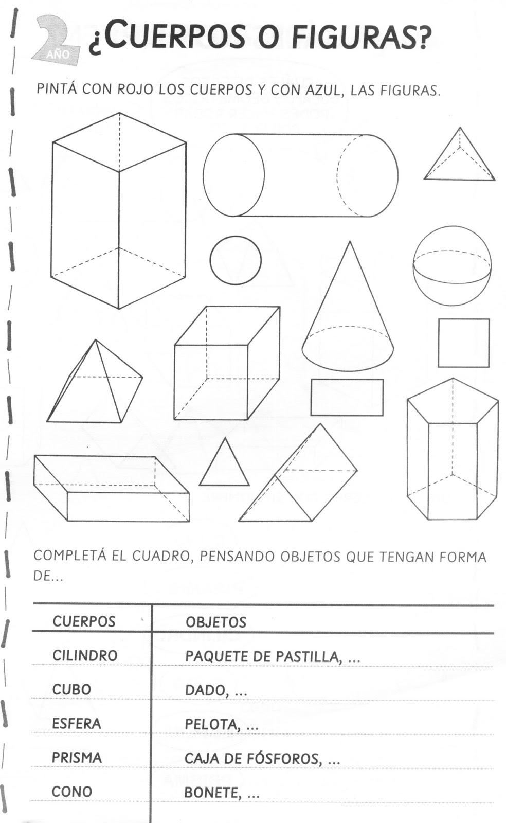 Geometría- cuerpos-figuras-líneas   ACTIVIDADES FOTOCOPIABLES PARA ...
