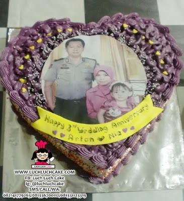 Kue Tart Love Edible Foto Keluarga