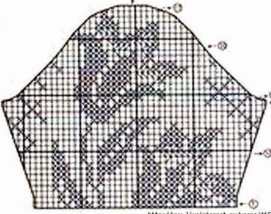 Схемы филейного вязания крючком тюльпан 33