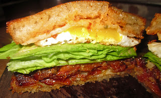: Spicy Fried Egg BLT's with Tomato Confit, Sorghum Glazed Bacon ...