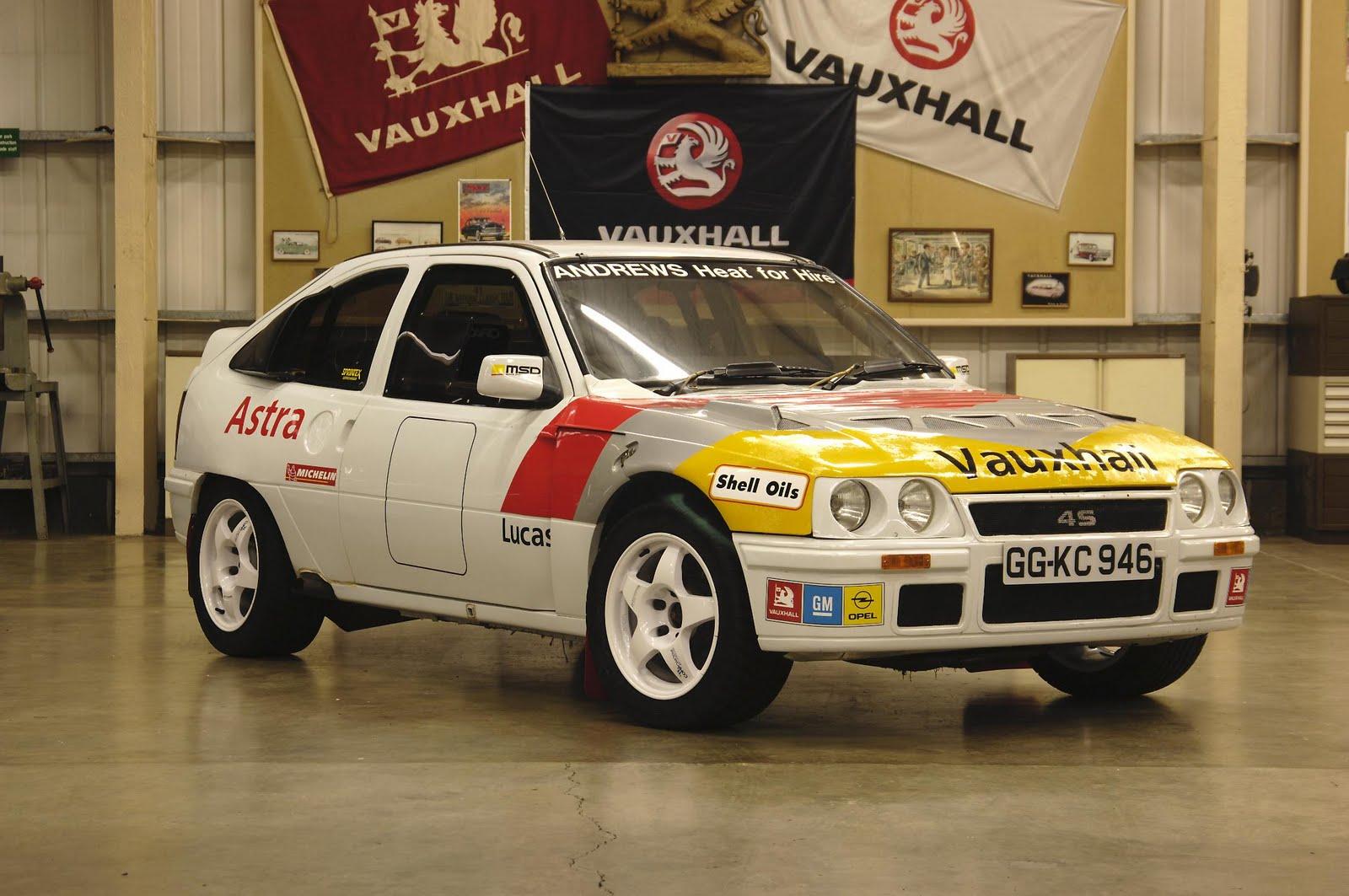 Vauxhall's Astra 4-S Rally car