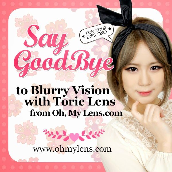 Say Good Bye to Blurry Vision with Toric Contact Lenses from ohmylens.com