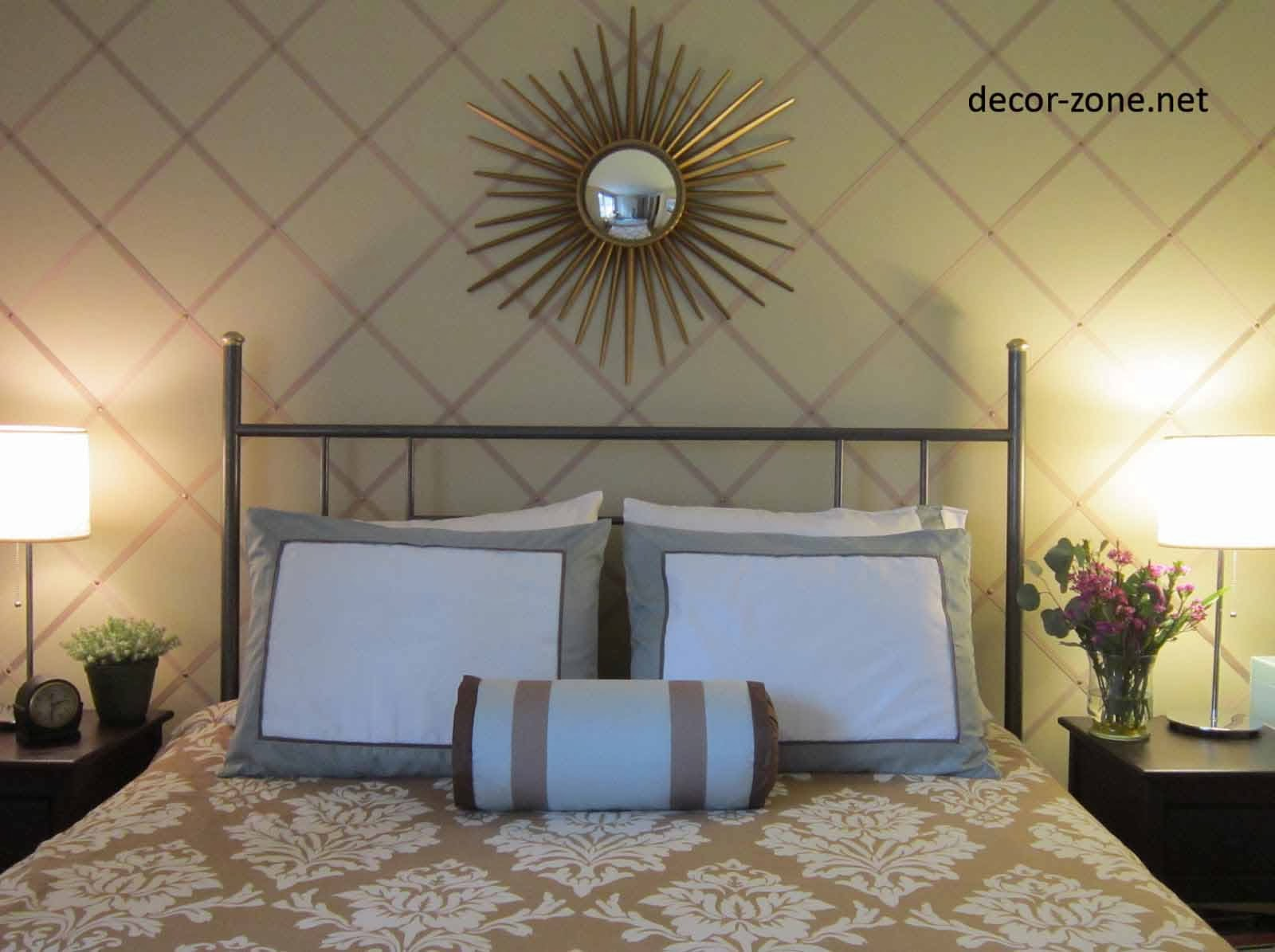wall mirrors over the bed, bedroom wall decor