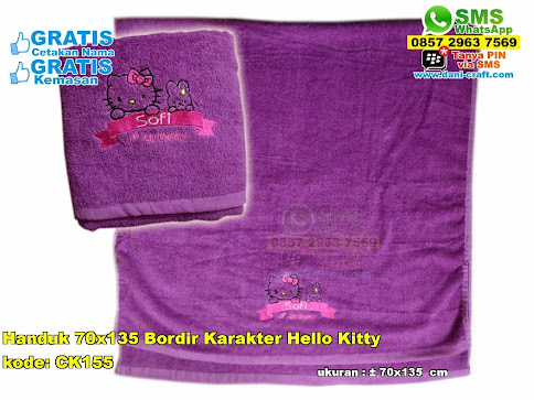 Handuk 70x135 Bordir Karakter Hello Kitty