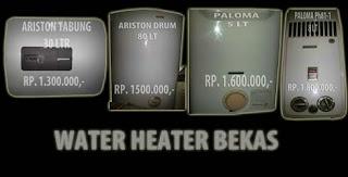 pemanas air paloma, water heater bekas