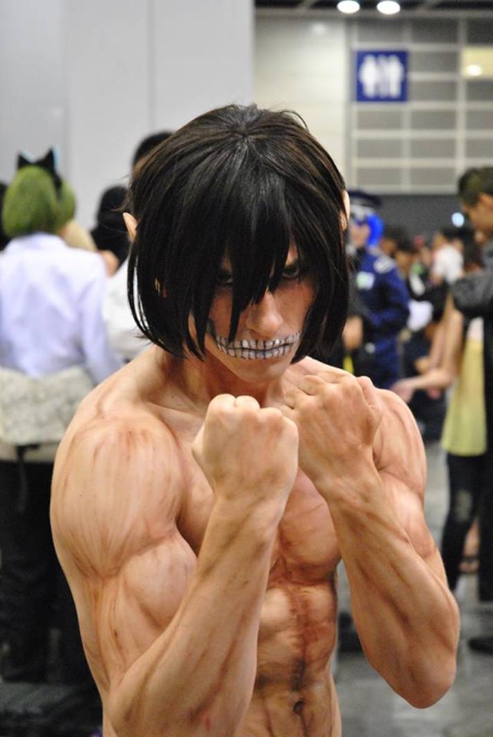animegirlsfantasi titan eren jaeger cosplay by rhys
