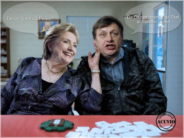 Funny image Hillary Clinton Crin Antonescu