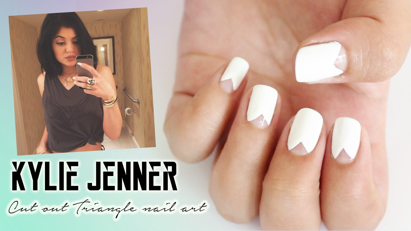 Hellomaphie Kylie Jenner Cut Out Triangle Nail Art No Tools Needed