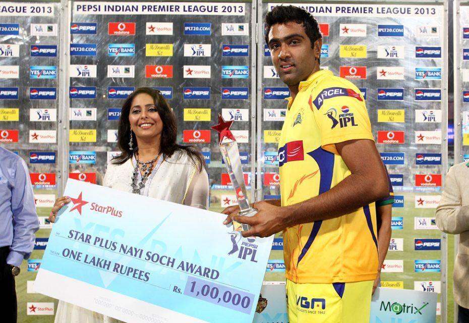 Ravichandran-Ashwin-Nayi-Soch-Award-KKR-vs-CSK-IPL-2013
