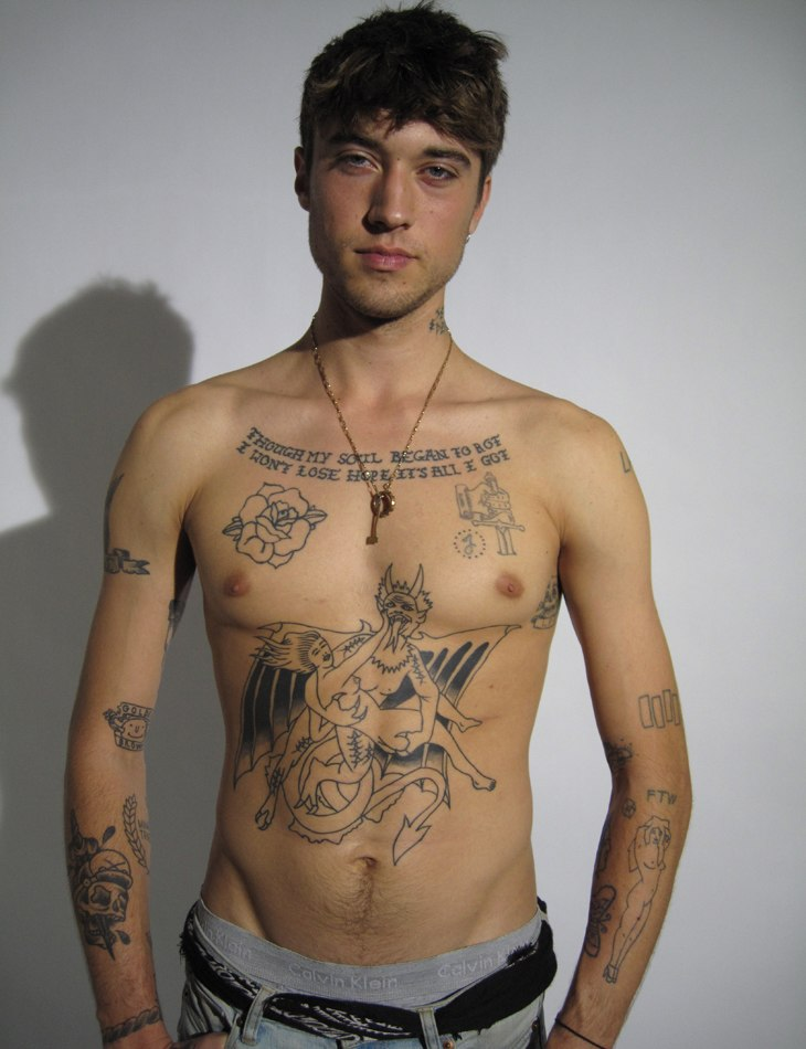 17 Male Models With Tattoos
