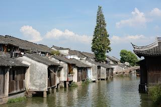 Canal scene in Wuzhen, Zhejiang, China