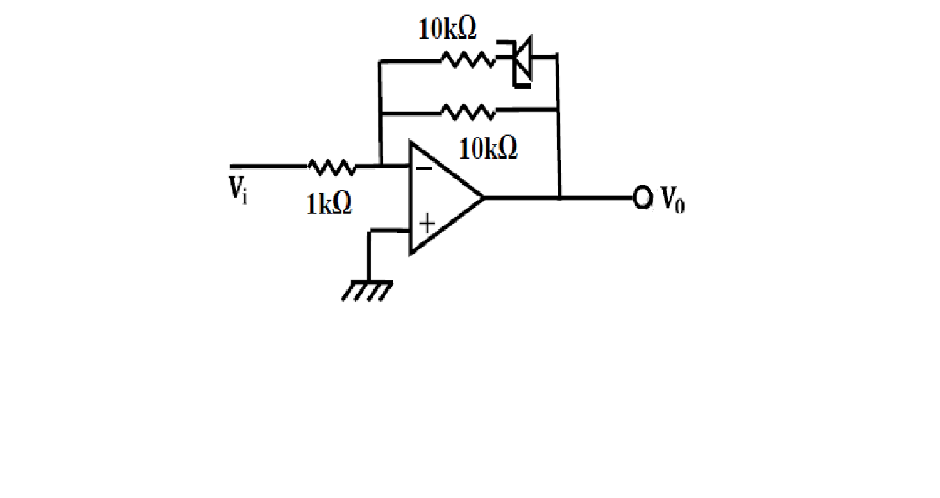 Picturejug Gate Previous Years Papers On Instrumentation Engineering Circuit Diagram Zener Diode Characteristics 33 In The Shown Has Ideal And A Breakdown Voltage Of 32v Output For An Input 1v Is