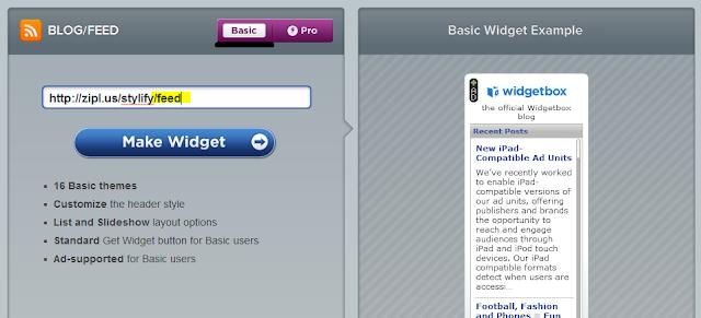 widgetbox create widget