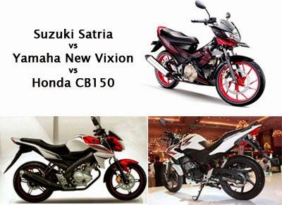 Suzuki Satria vs Yamaha Vixion vs Honda CB150