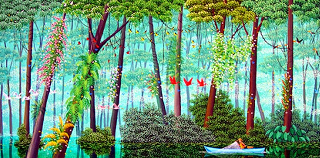 paisajes-primitivos-de-la-selva-pintados-al-oleo