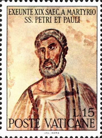 Martyrio SS. Petri, Philatélie sacrée dans images sacrée VATICANO1967_San+Pietro