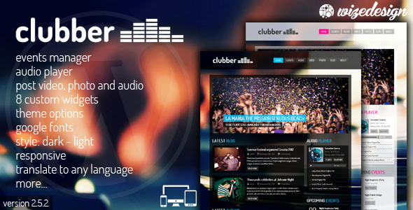 Clubber V2.5 – Events & Music WordPress Theme
