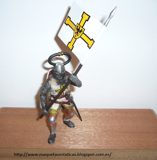 scale figure of a Teuton knight