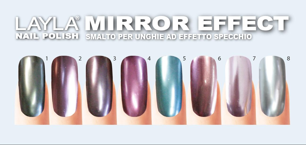 Smalto semipermanente specchio colori per dipingere - Unghie effetto specchio polvere ...